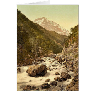 Klonthal, on the Klothal Road (Lontschtobel and Ru Greeting Card
