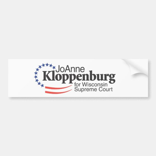 Kloppenburg for Wisconsin Supreme Court Bumper Sticker