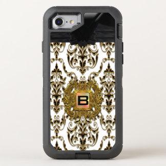 Klysworth Girly Damask Elegant Monogram OtterBox Defender iPhone 8/7 Case