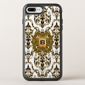 Klysworth Girly Damask Elegant Monogram OtterBox Symmetry iPhone 8 Plus/7 Plus Case