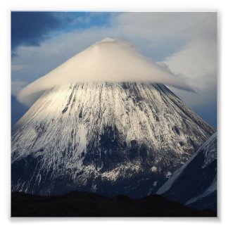 Klyuchevskaya Sopka Mountain Photo Print