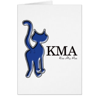 KMA Says The Cat Greeting Card