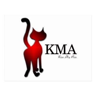 KMA Says the Cat Postcard