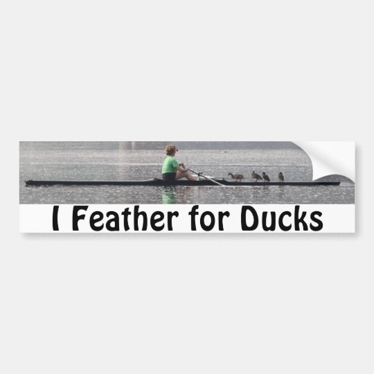 KMCphoto Feather For Ducks Bumper Sticker