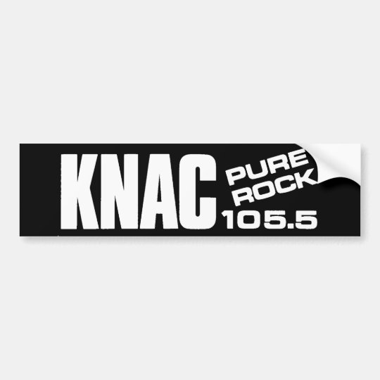 KNAC Pure Rock 105.5 Bumper Sticker