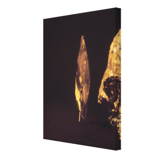 Knapped axe or spear head stretched canvas prints