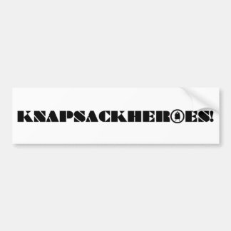 KNAPSACKHEROES! Bumper Sticker