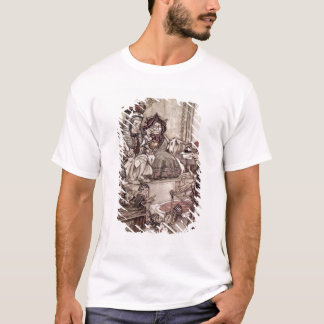 Knave before the King and Queen of Hearts T-Shirt