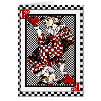 Knave of Hearts Checkers Blank Cards