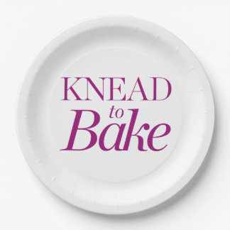 Knead To Bake 9 Inch Paper Plate