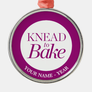 Knead To Bake Silver-Colored Round Decoration