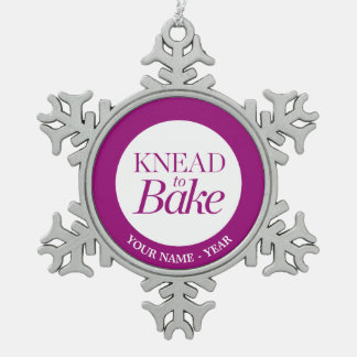 Knead To Bake Snowflake Pewter Christmas Ornament