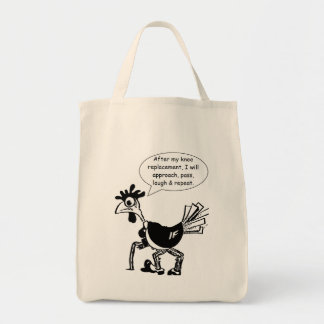 Knee Replacement Surgery - Fun Quote Tote Bag
