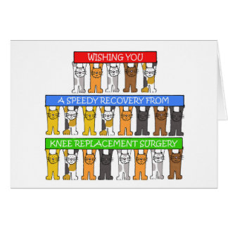 Knee replacement surgery recovery. greeting card