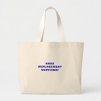 Knee Replacement Survivor Jumbo Tote Bag