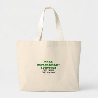 Knee Replacement Survivor Part Human Part Machine Jumbo Tote Bag
