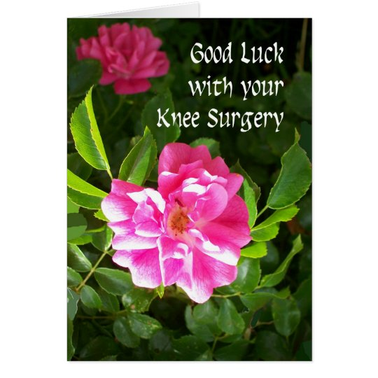 Knee Surgery Good Luck Card