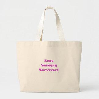 Knee Surgery Survivor Large Tote Bag