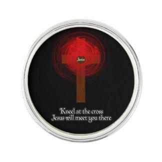 Kneel At The Cross Lapel Pin