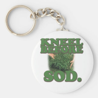 Kneel Before Sod Basic Round Button Key Ring