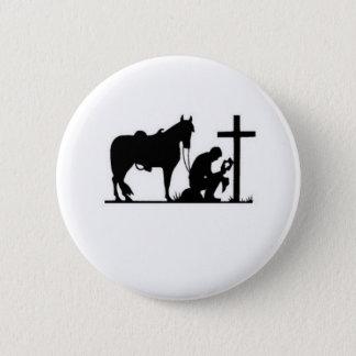 Kneeling Cowboy 6 Cm Round Badge