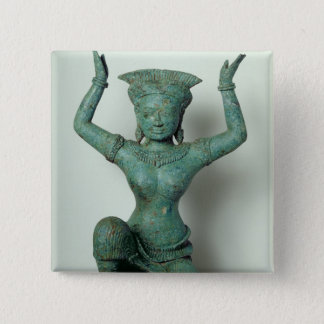 Kneeling feminine figure  used to support a 15 cm square badge
