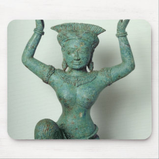Kneeling feminine figure  used to support a mouse pad