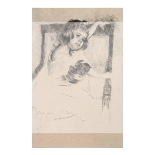 Kneeling in an Armchair by Mary Cassatt Personalized Flyer