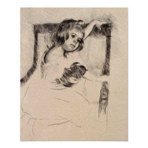 Kneeling in an Armchair by Mary Cassatt Flyer