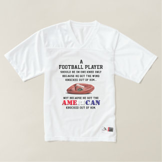Kneeling NFL Players Protest Jersey. Take A Stand! Men's Football Jersey