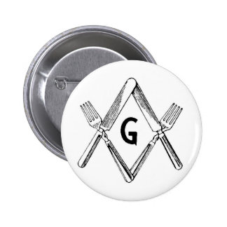 Knife and Fork Degree 6 Cm Round Badge
