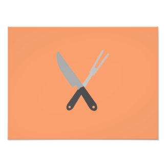 knife and fork photo print