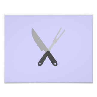 knife and fork photographic print