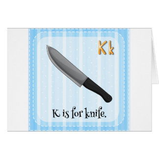 Knife Greeting Card