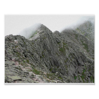 Knife Edge trail, Baxter State Park, Maine Poster