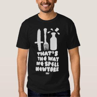 KNIFE FORK BOTTLE & CORK black Tee Shirt