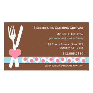 Knife & Fork - Personal Chef   Catering Business Business Card