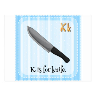 Knife Postcard
