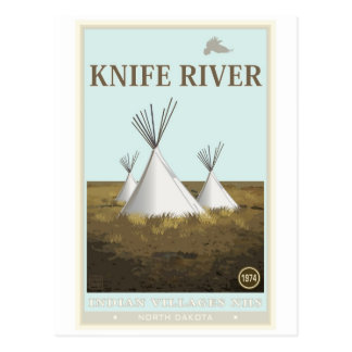 Knife River Indian Villages National Historic Site Postcard