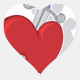 KnifeHeart.pdf Heart Sticker