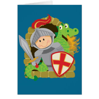 Knight and Dragon Greeting Card