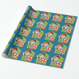 Knight and Dragon Wrapping Paper