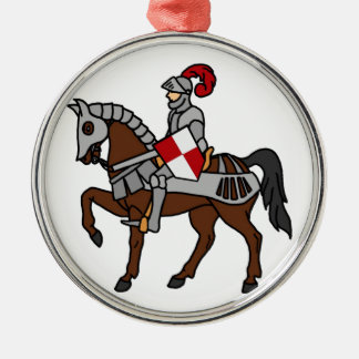 Knight and his Horse Christmas Ornament