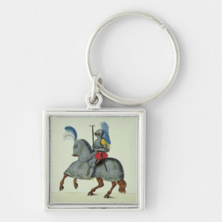 Knight and horse in armour, plate from 'A History Key Ring
