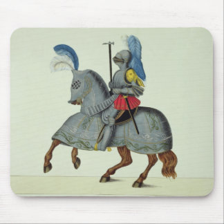 Knight and horse in armour, plate from 'A History Mouse Mat