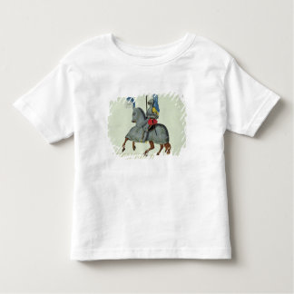 Knight and horse in armour, plate from 'A History Toddler T-Shirt