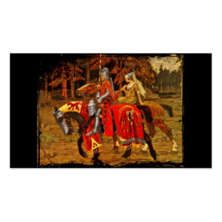 Knight and Maiden Chivalry Pack Of Standard Business Cards