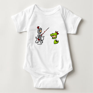 Knight and the dragon baby bodysuit
