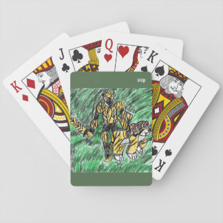 knight and tiger playing cards