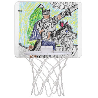 knight and wolf 2 mini basketball hoop